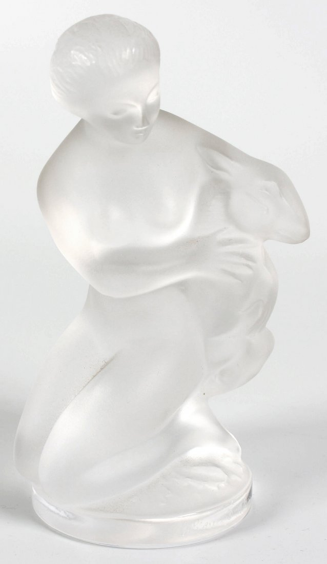 20: A modern Lalique crystal figure of Diana