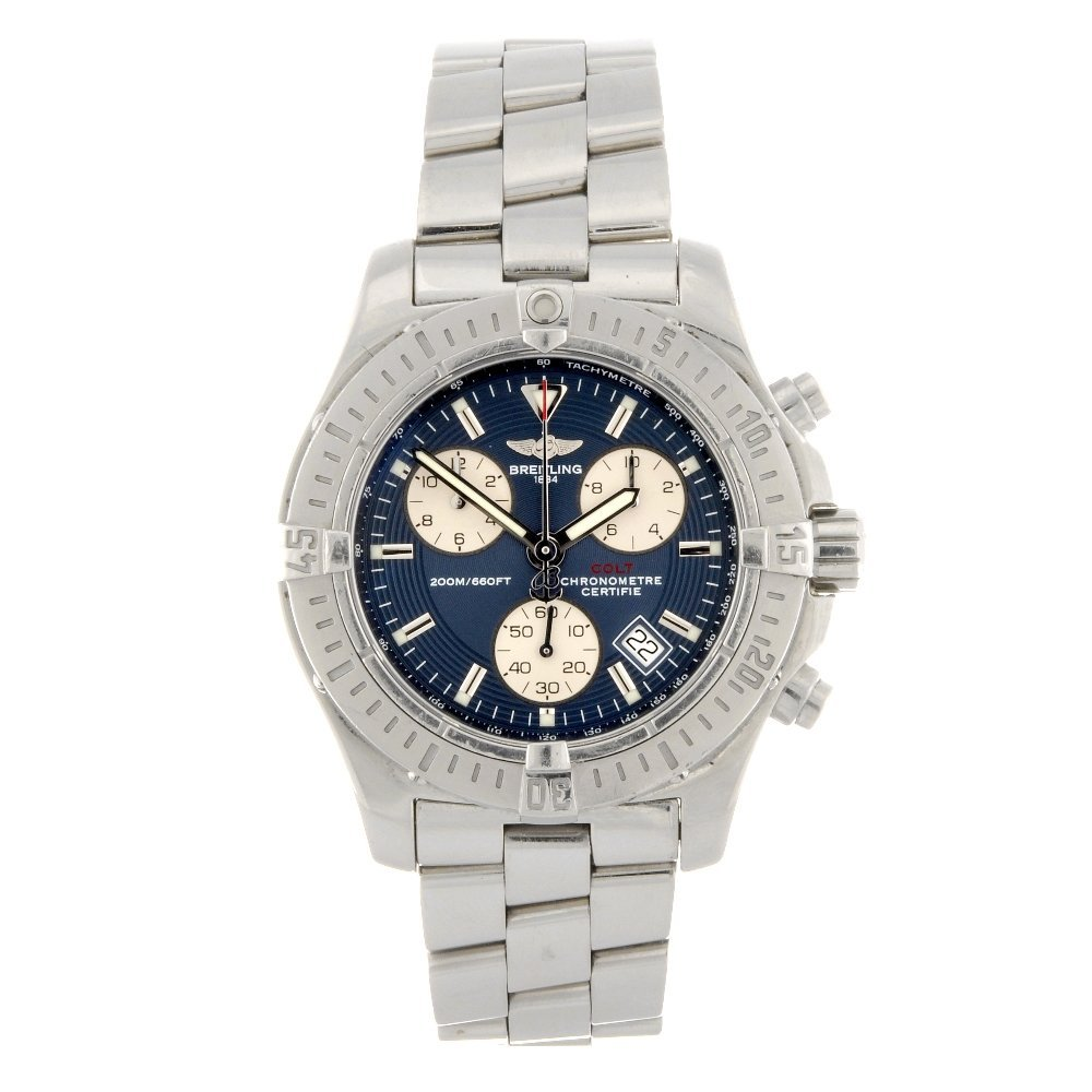 5: A stainless steel quartz gentleman's Breitling Chron