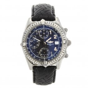 6: A stainless steel automatic gentleman's Breitling Wi