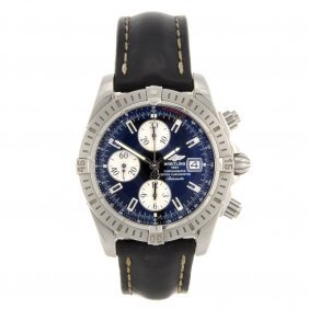 8: A stainless steel automatic gentleman's Breitling Wi