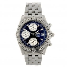 9: A stainless steel automatic gentleman's Breitling Wi
