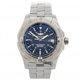 13: A stainless steel automatic gentleman's Breitling C