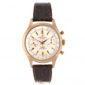 14: A gold plated manual wind gentleman's chronograph B