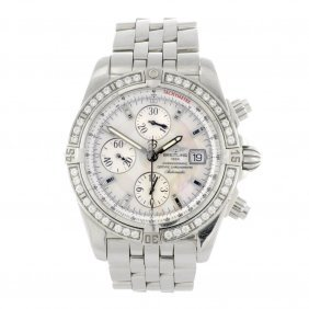 19: A stainless steel automatic gentleman's Breitling C