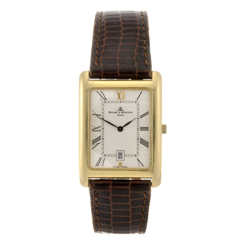 2: (032433) An 18k gold quartz gentleman's Baume & Merc