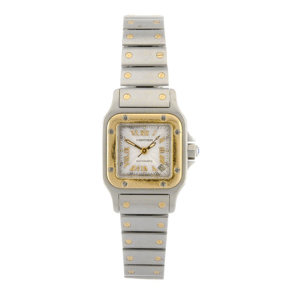 10: (809029156)  A bi-metal automatic lady's Cartier Sa