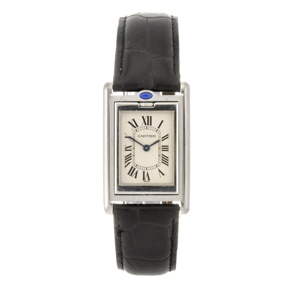 11: (84145) A stainless steel quartz lady's Cartier Tan