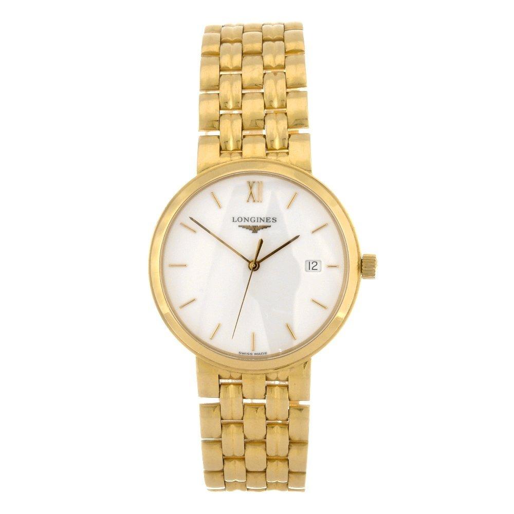 25: An 18k gold quartz gentleman's Longines Prestige br