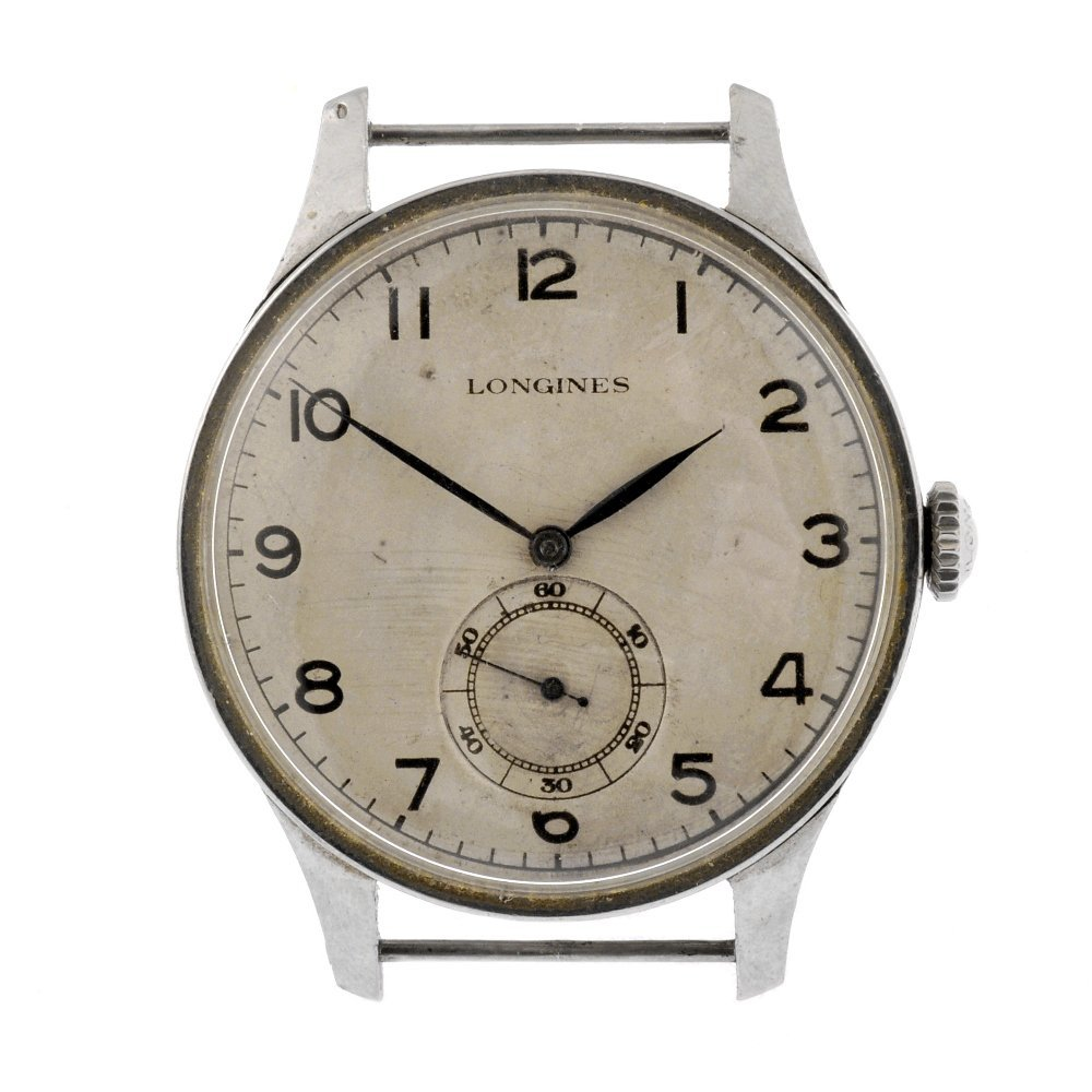 26: A stainless steel manual wind gentleman's Longines