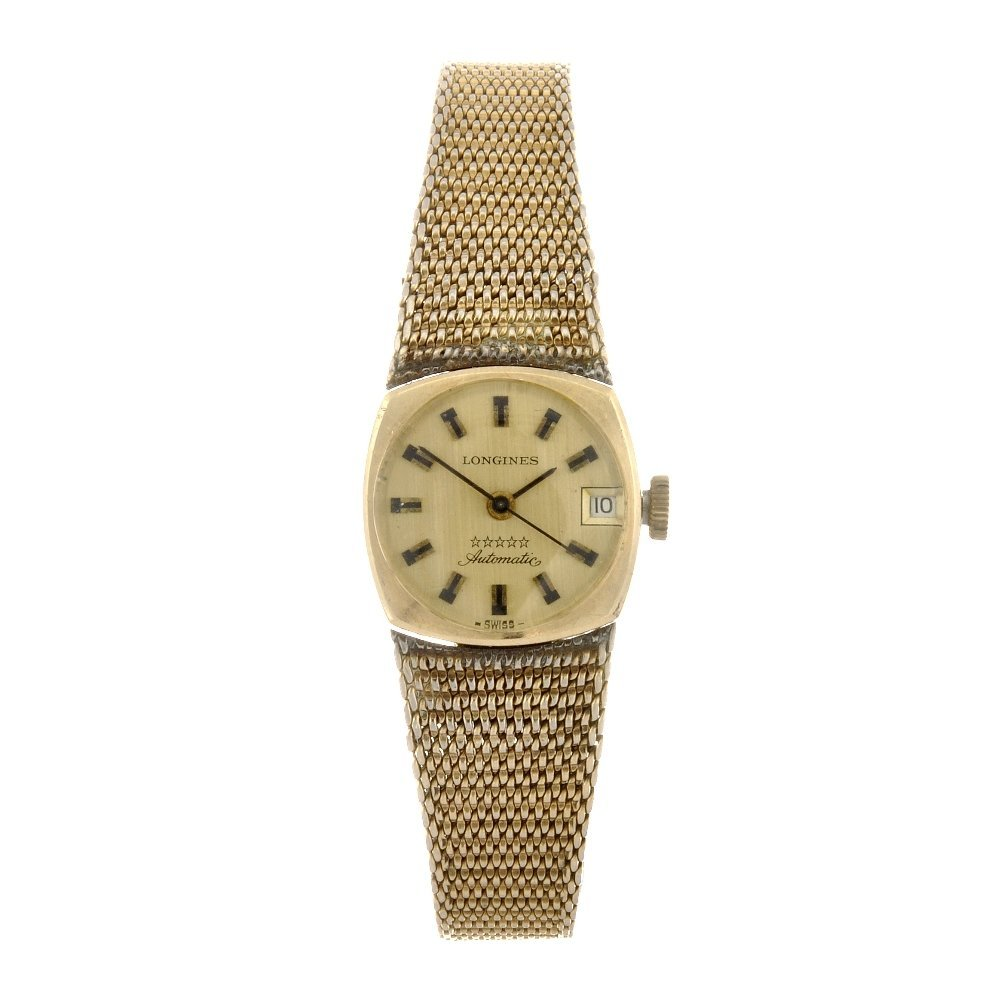 29: A gold plated automatic lady's Longines Admiral bra