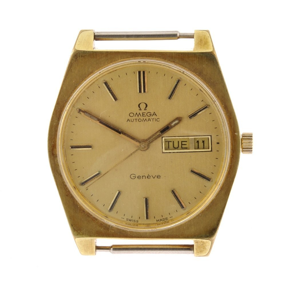 41: A gold plated automatic gentleman's Omega Geneve wa