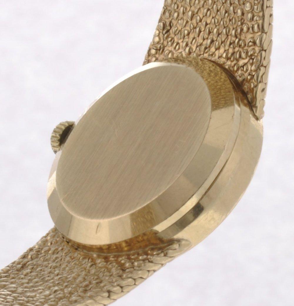 46: A 9ct gold manual wind lady's Omega De Ville bracel - 2