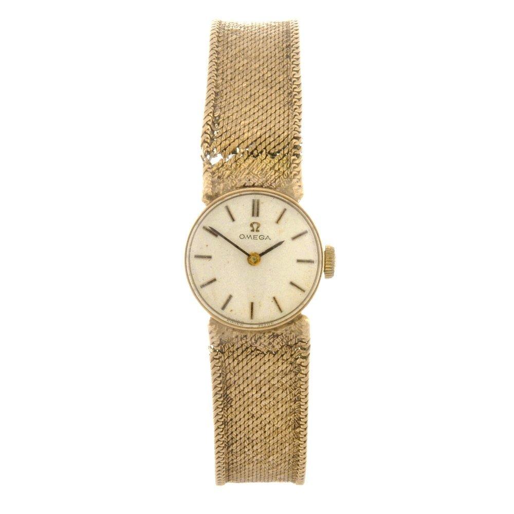 52: (84715) A 9ct gold manual wind lady's Omega bracele
