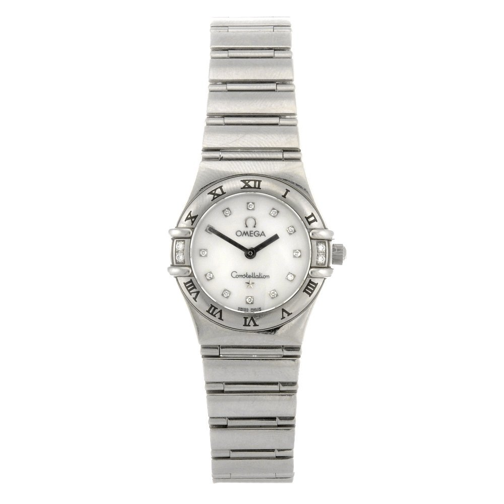 53: (85014) A stainless steel quartz lady's Omega Const