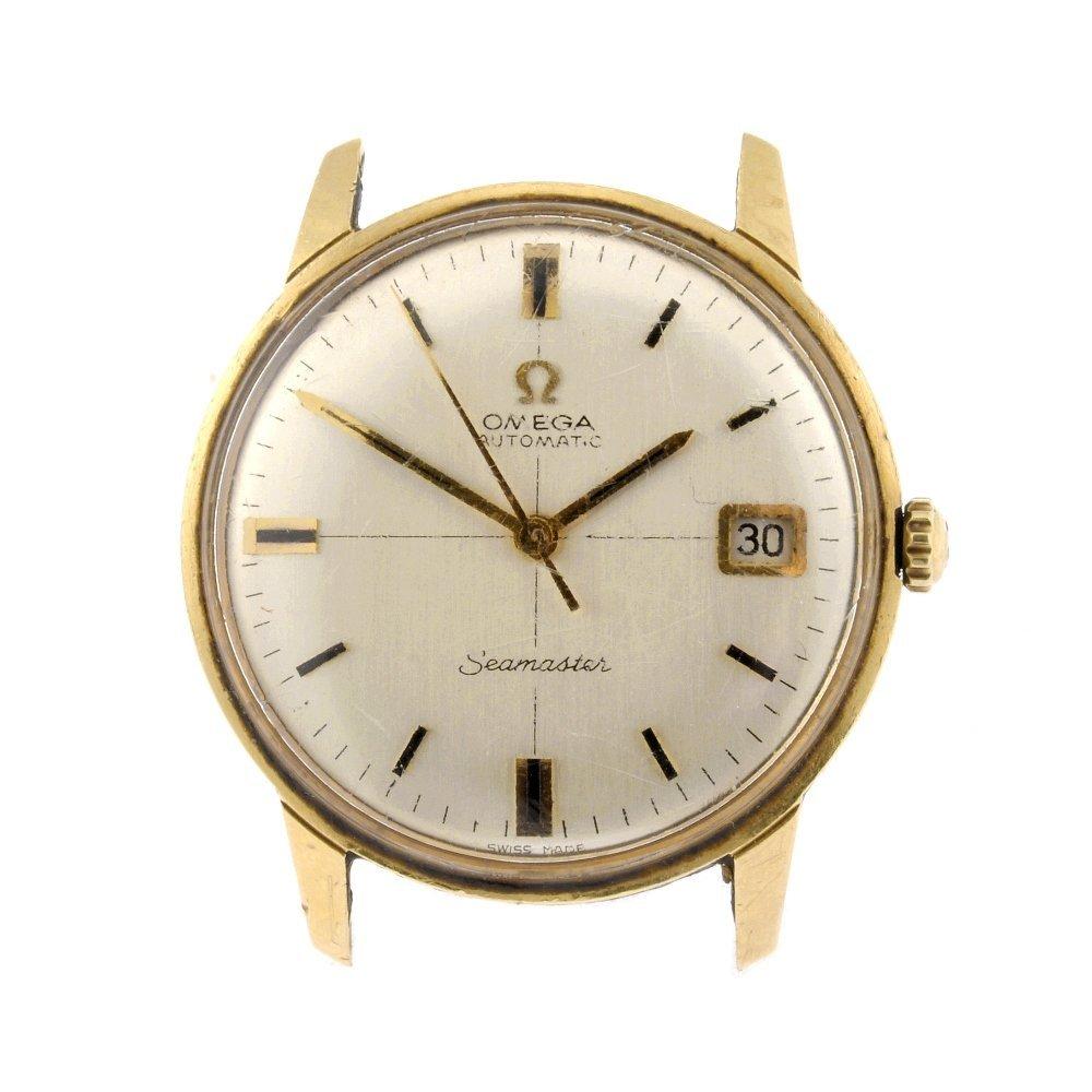 58: A 14k gold automatic gentleman's Omega Seamaster wa