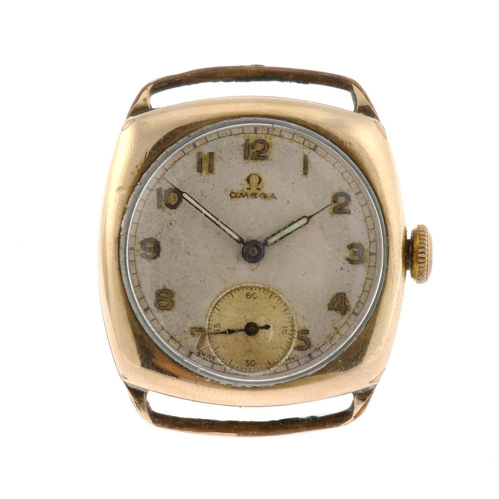 61: A gold filled manual wind gentleman's Omega watch h