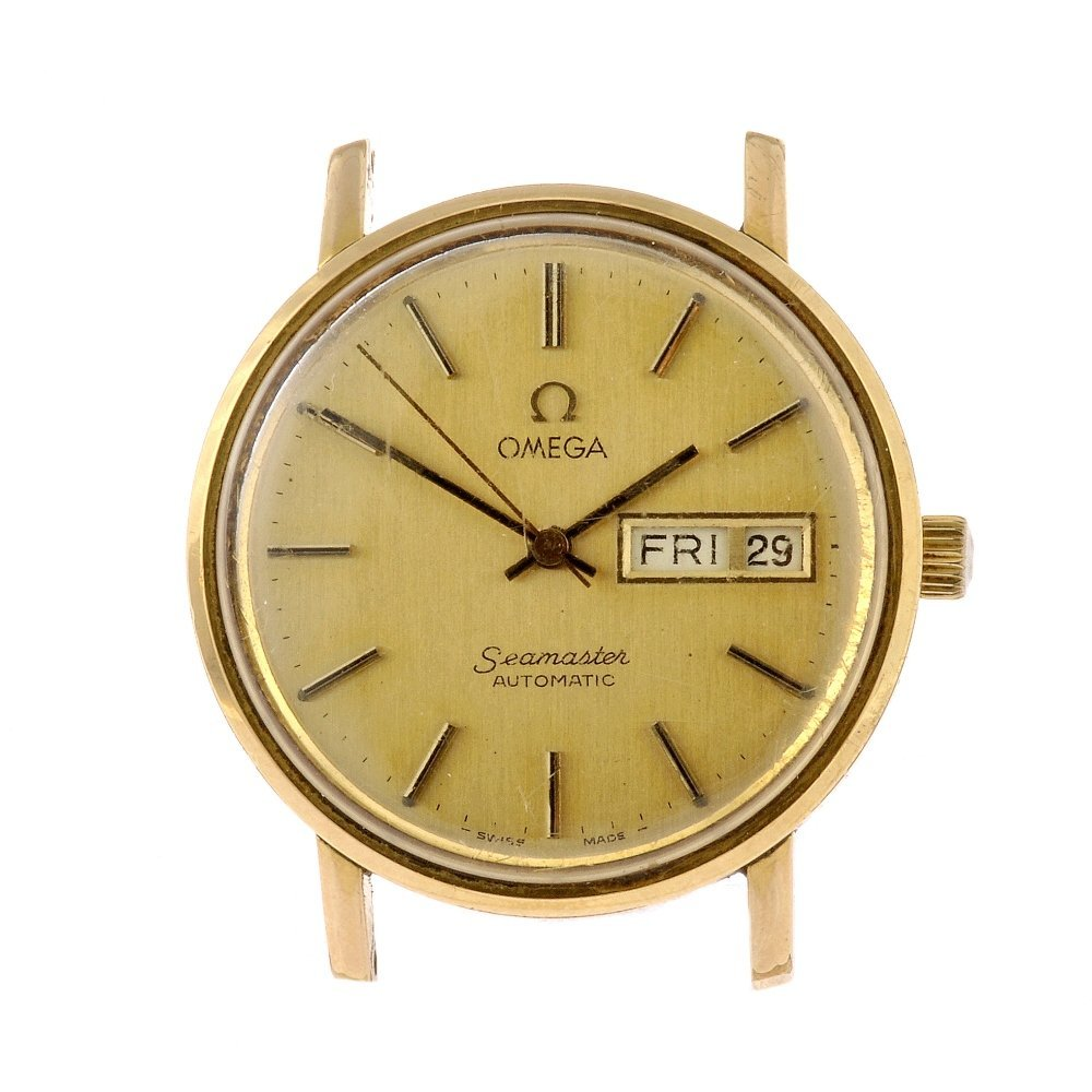 62: A gold plated automatic gentleman's Omega Seamaster