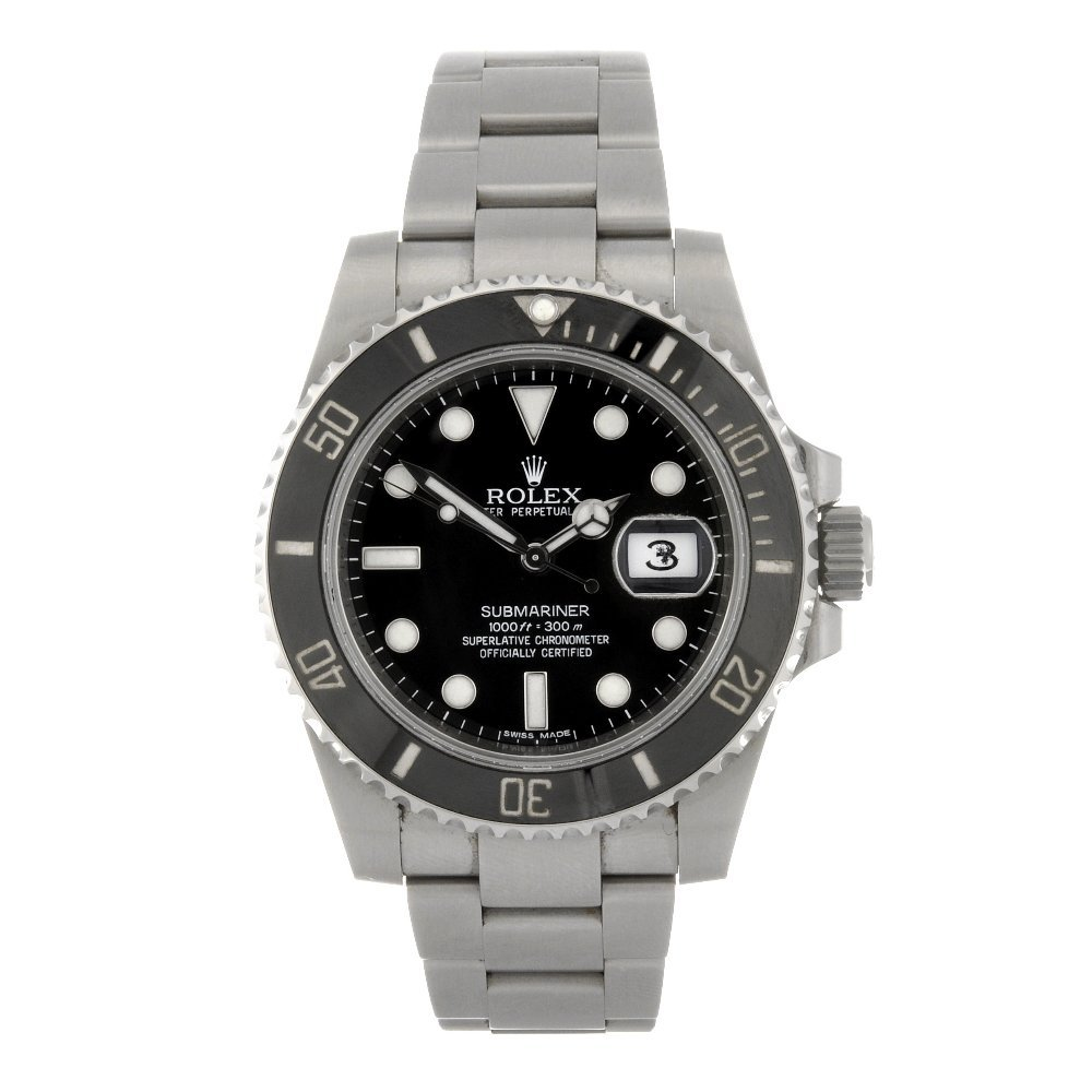 83: (403044255) A stainless steel automatic gentleman's