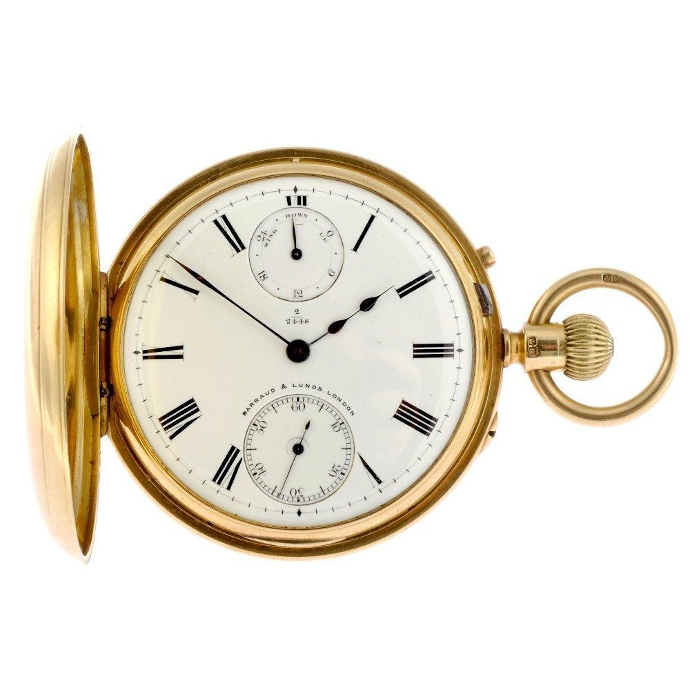 5: An 18ct gold keyless wind half hunter pocket watch s