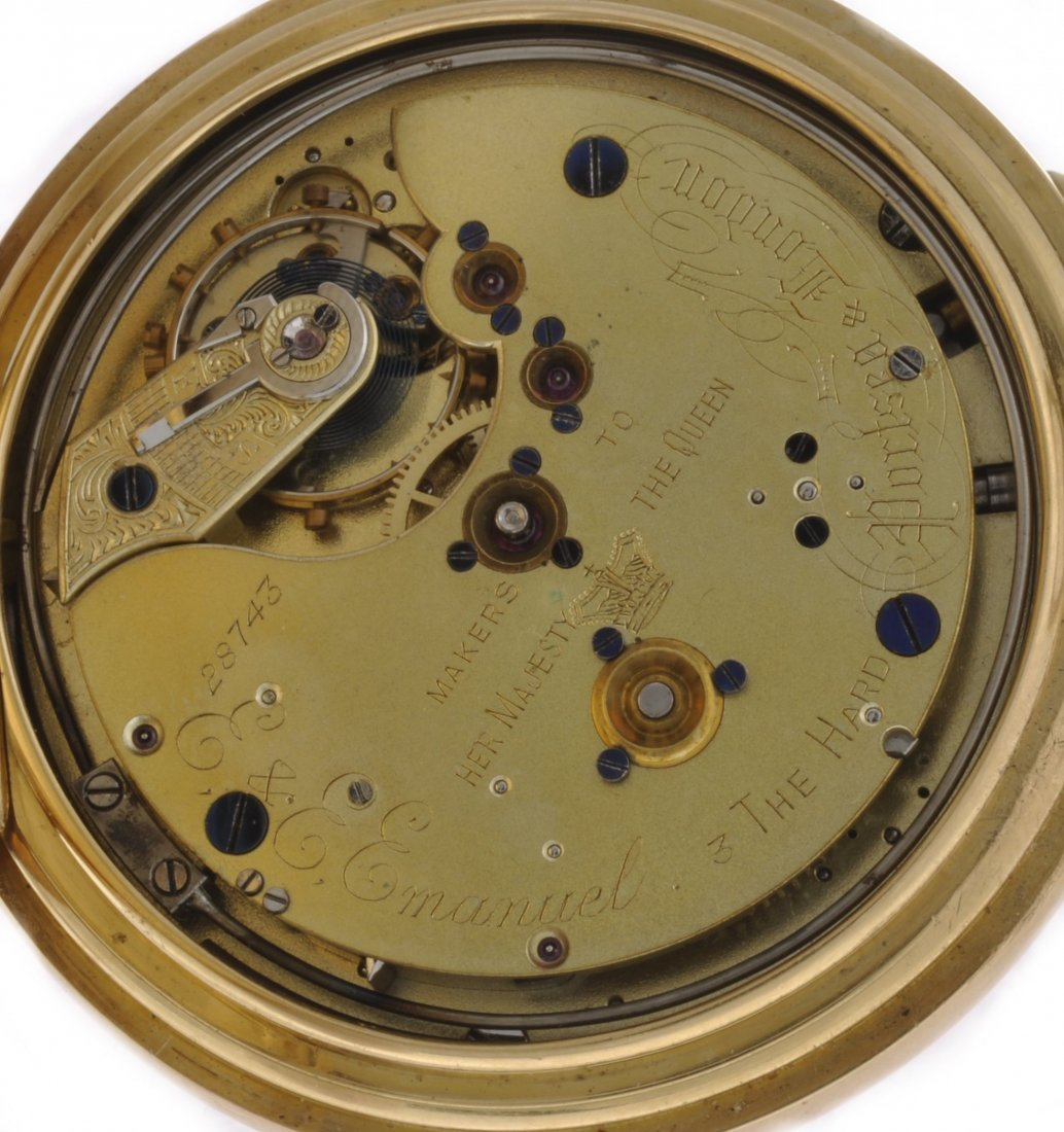 14: An 18ct gold keyless wind full hunter minute repeat - 5