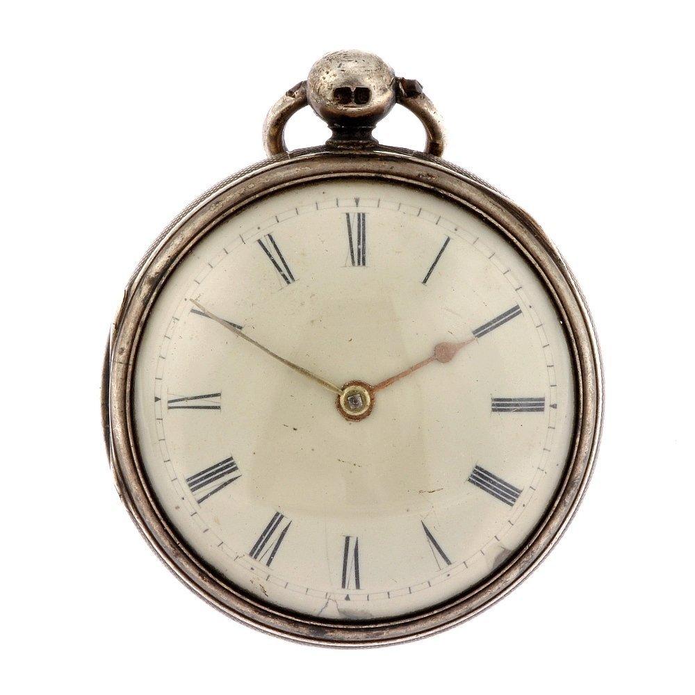 16: A George III silver key wind open face pocket watch
