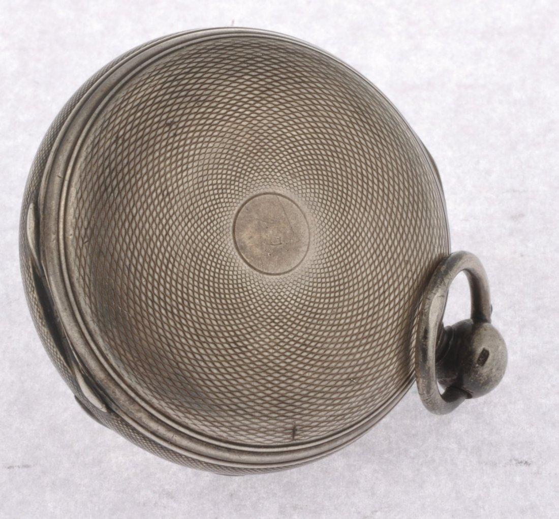 16: A George III silver key wind open face pocket watch - 2