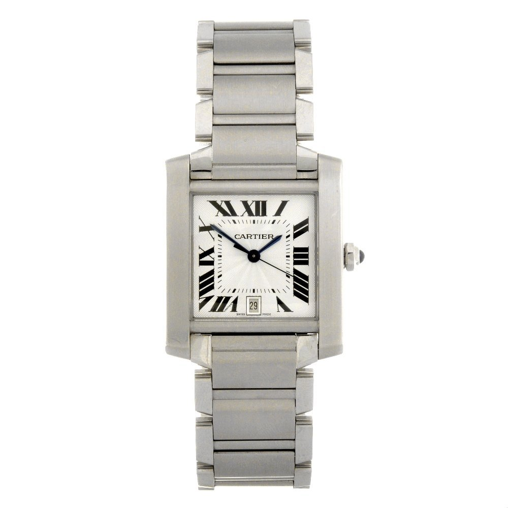 20: (122081050) A stainless steel automatic Cartier Tan