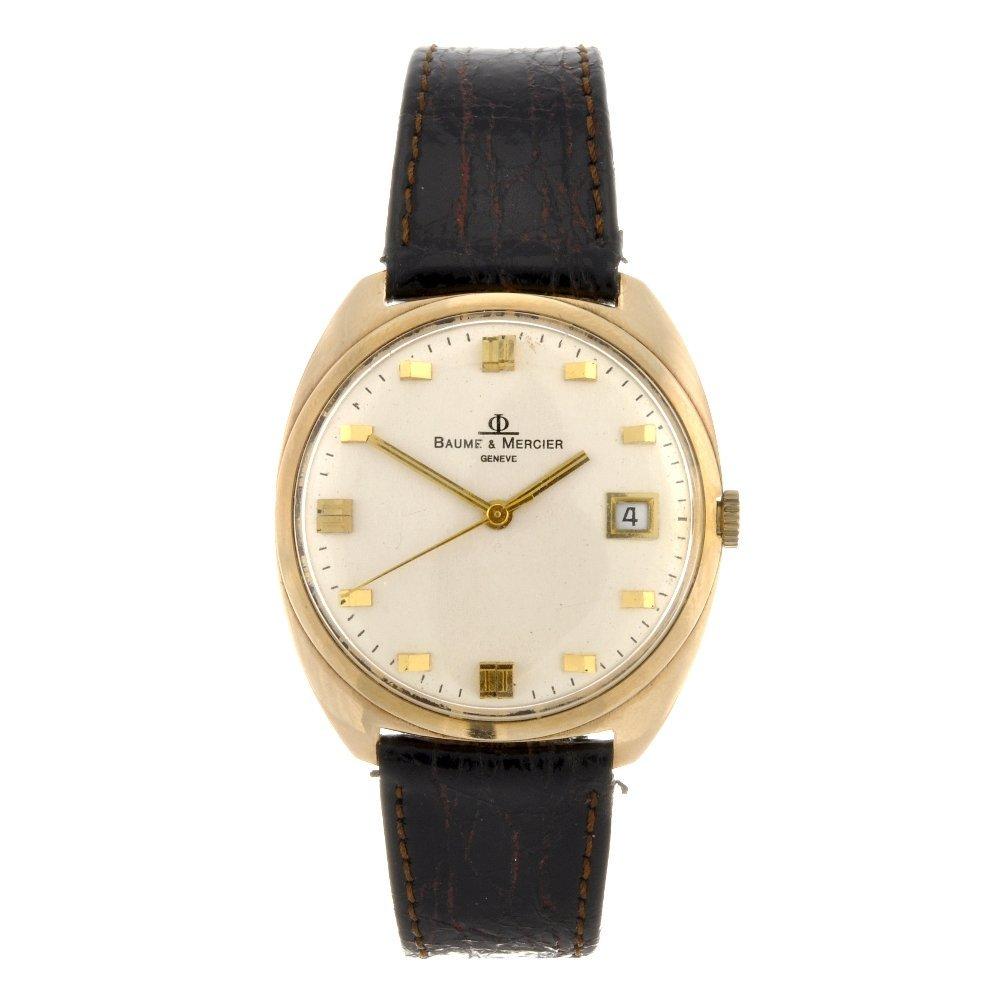 1: A 14k gold automatic gentleman's Baume & Mercier wri