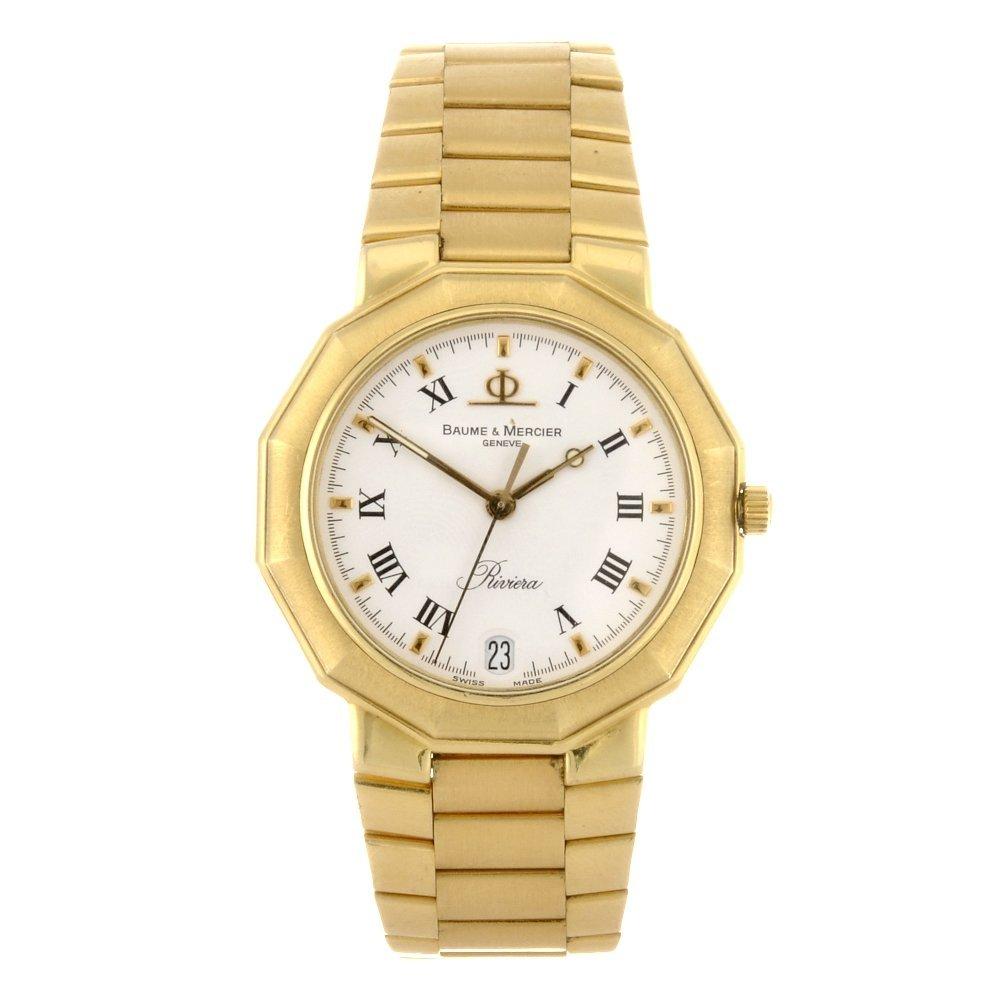 3: (043828) An 18ct gold quartz gentleman's Baume & Mer