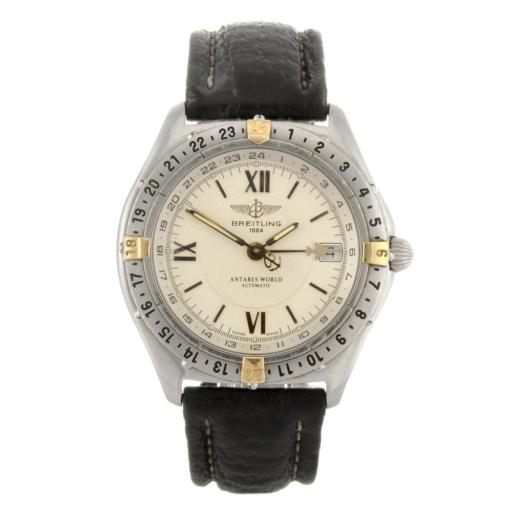 7: (104989944) A stainless steel automatic gentleman's