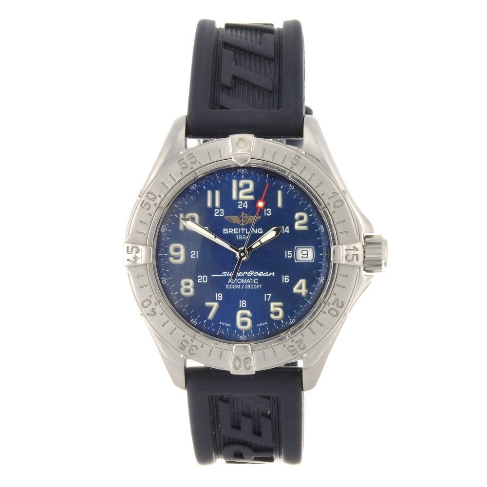 8: (40780) A stainless steel automatic gentleman's Brei