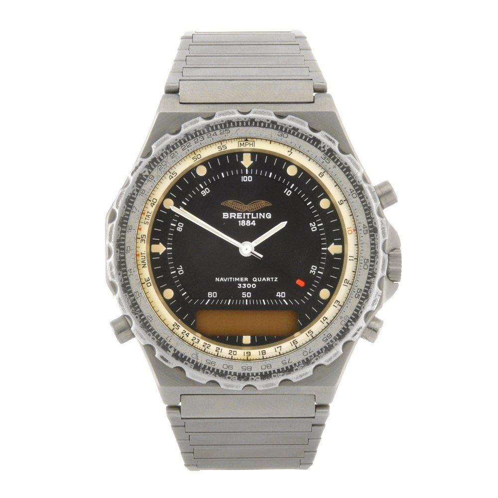 9: (410019190) A stainless steel quartz gentleman's Bre