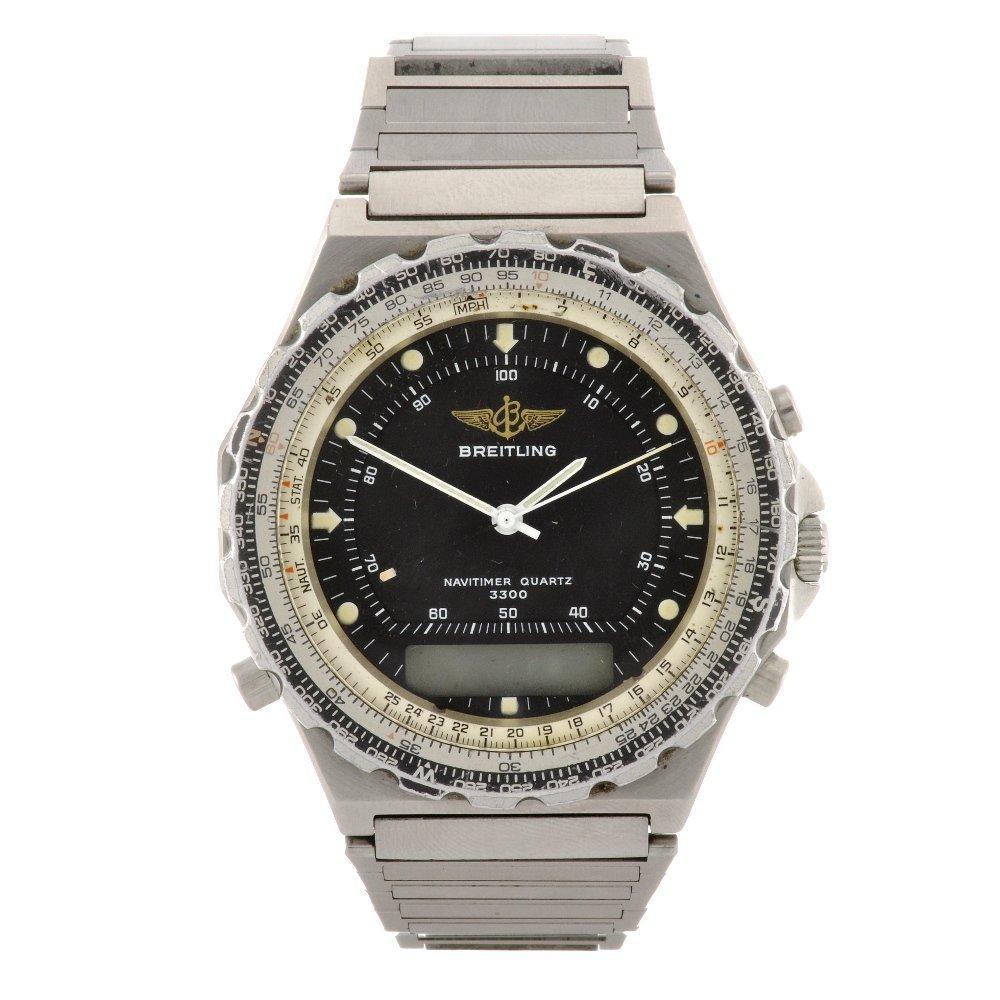 11: (50984) A stainless steel quartz Breitling Navitime