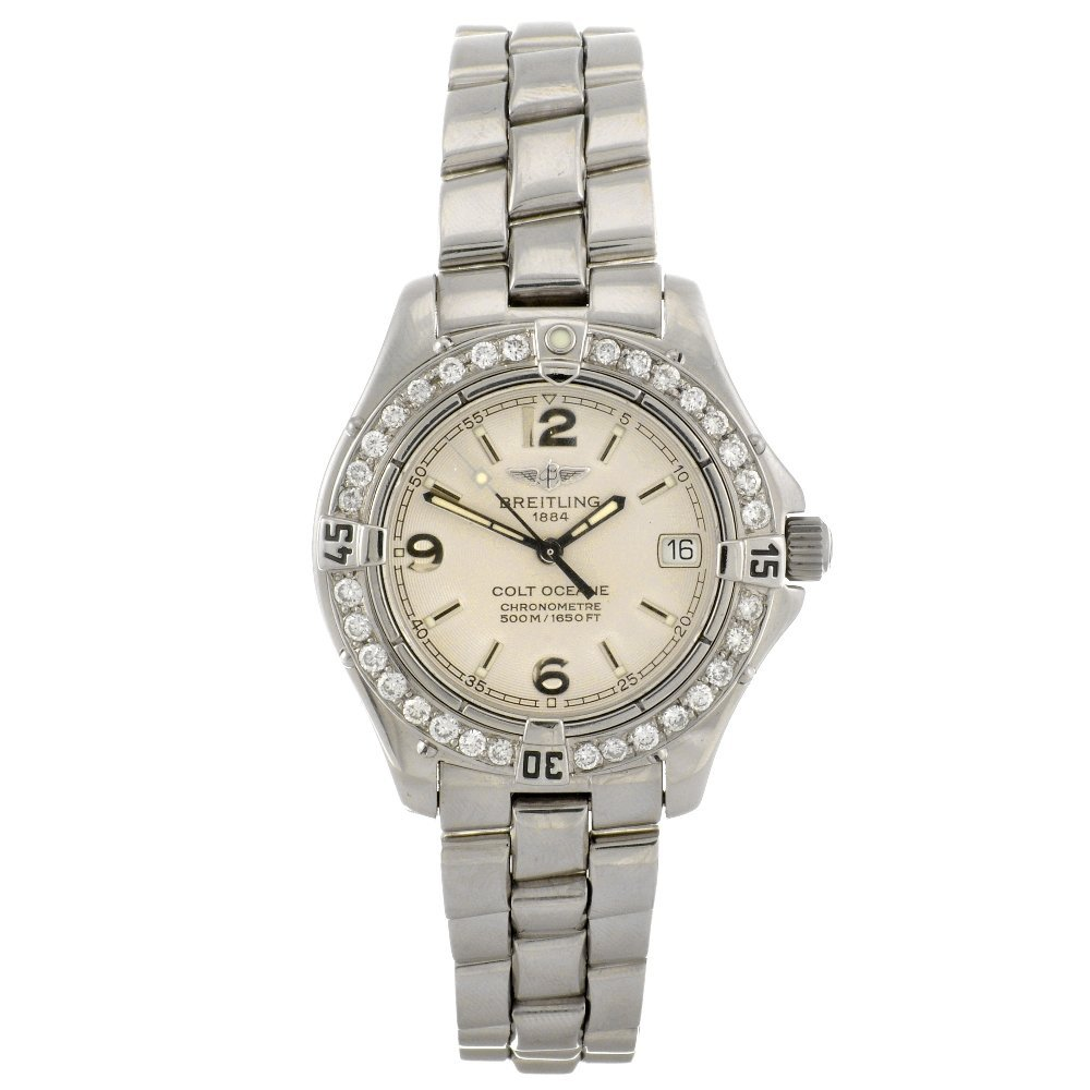 12: (86678) A stainless steel quartz lady's Breitling A
