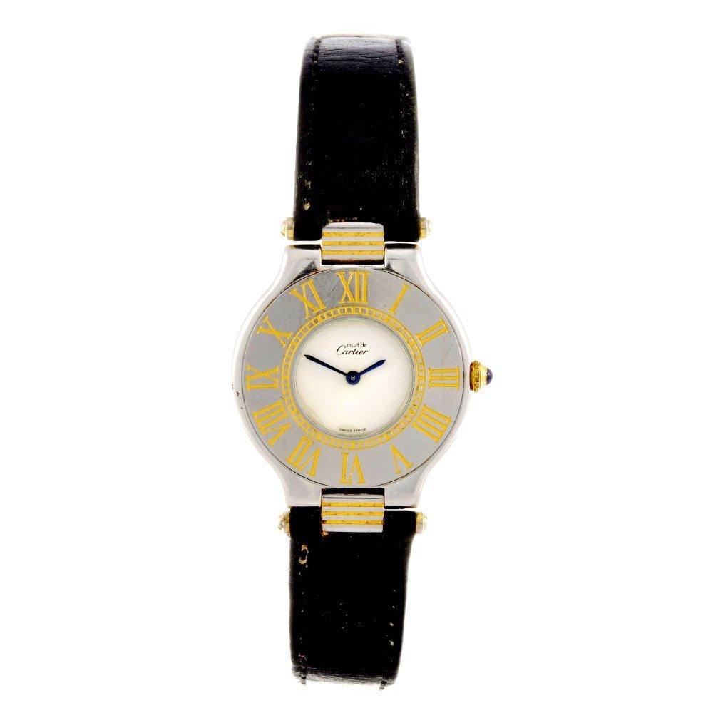 19: A bi-colour quartz Cartier Must de Cartier 21 wrist