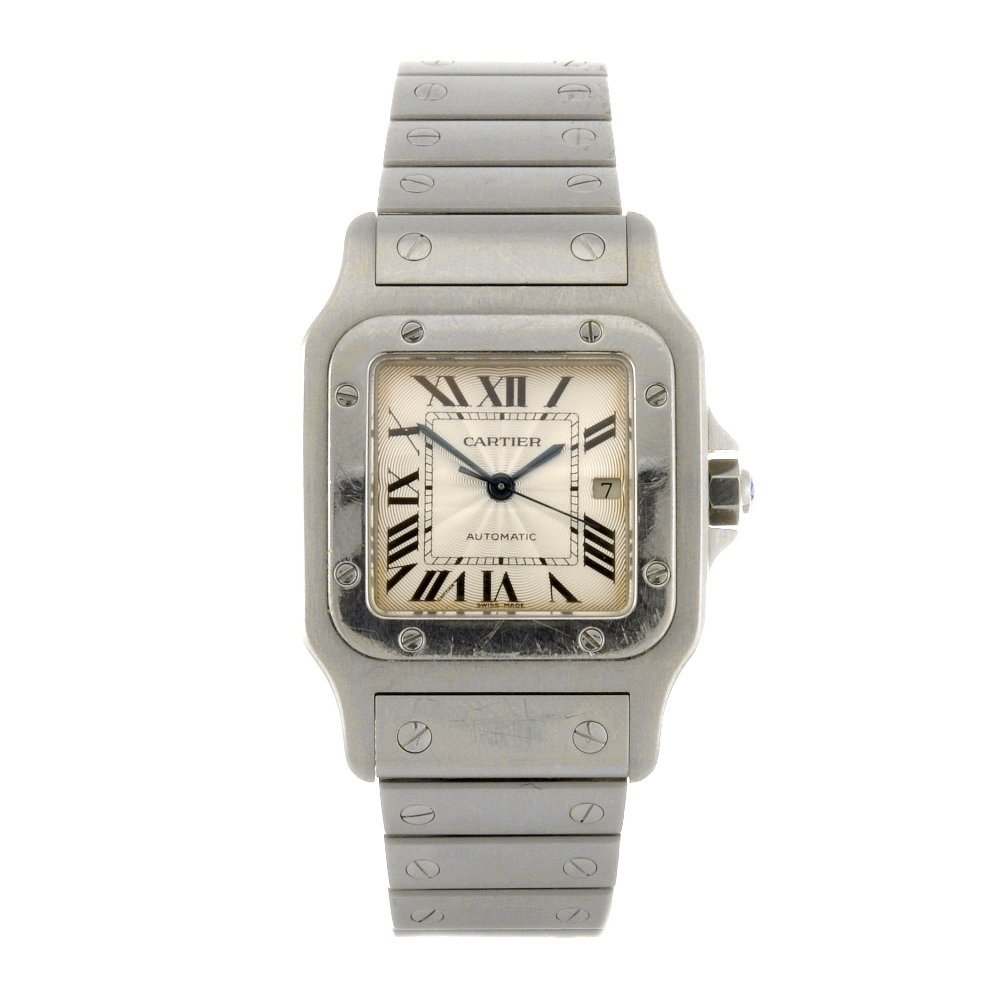 24: (104990793) A stainless steel automatic Cartier San