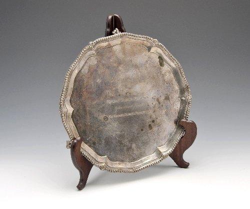 10: George III silver salver, London 1772.