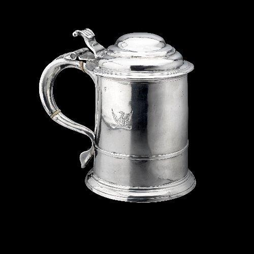 13: George I Britannia silver tankard.