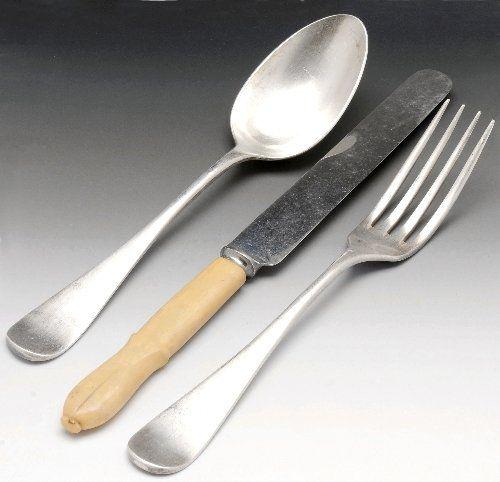 Six Christofle spoons & fork, etc.