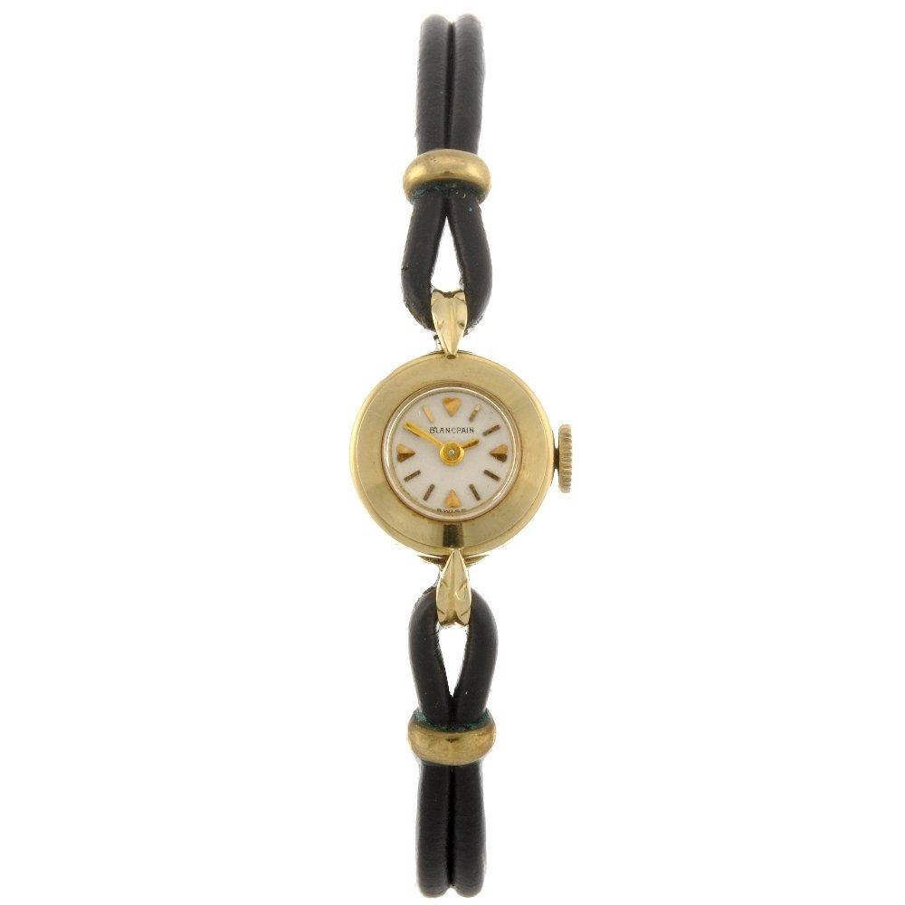 5: An 18k gold manual wind lady's Blancpain wrist watch