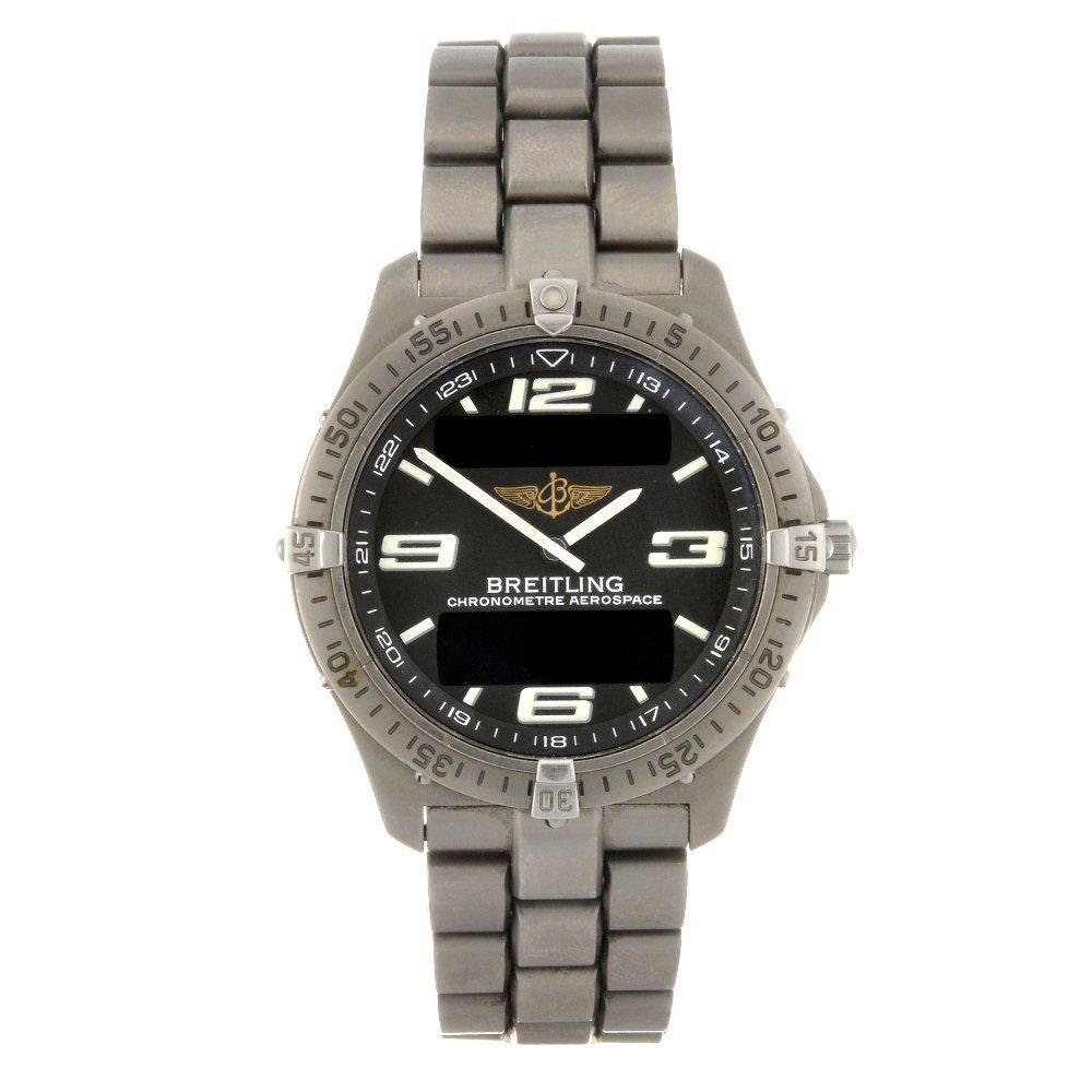 6: A titanium quartz gentleman's Breitling Aerospace br