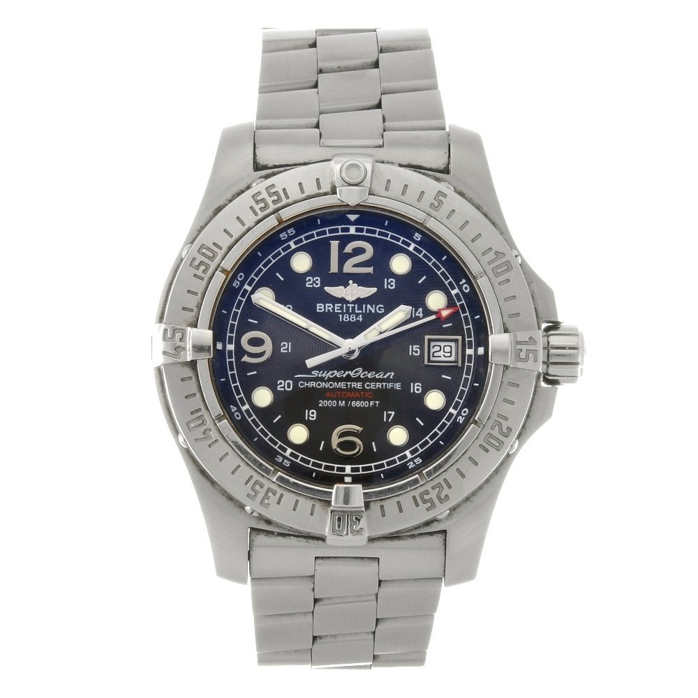 10: (89039) A stainless steel automatic gentleman's Bre