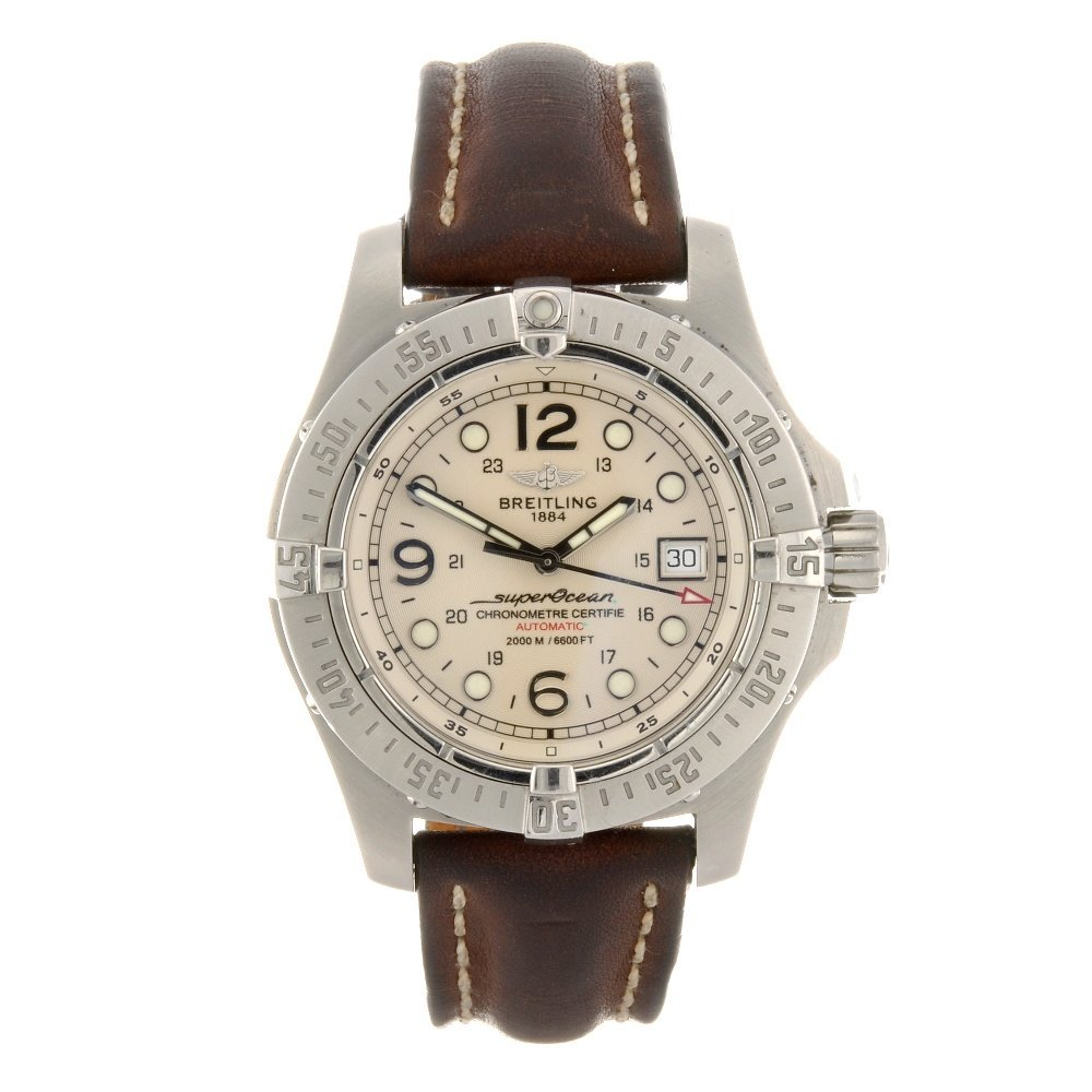 12: (121078775) A stainless steel automatic gentleman's