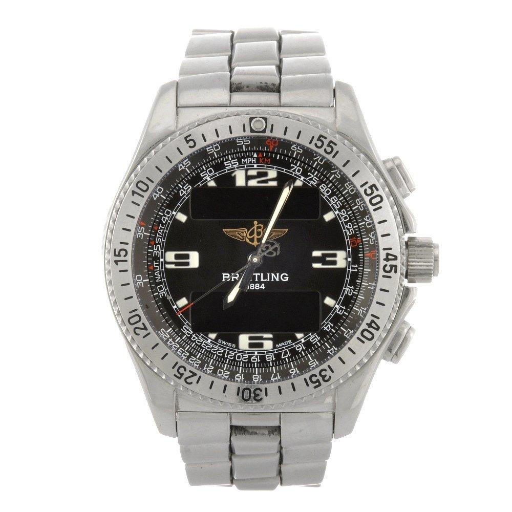 14: (121078280) A stainless steel quartz gentleman's Br