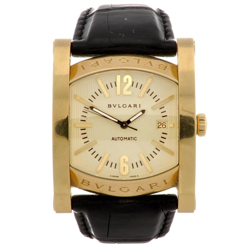 17: An 18k gold automatic gentleman's Bulgari wrist wat
