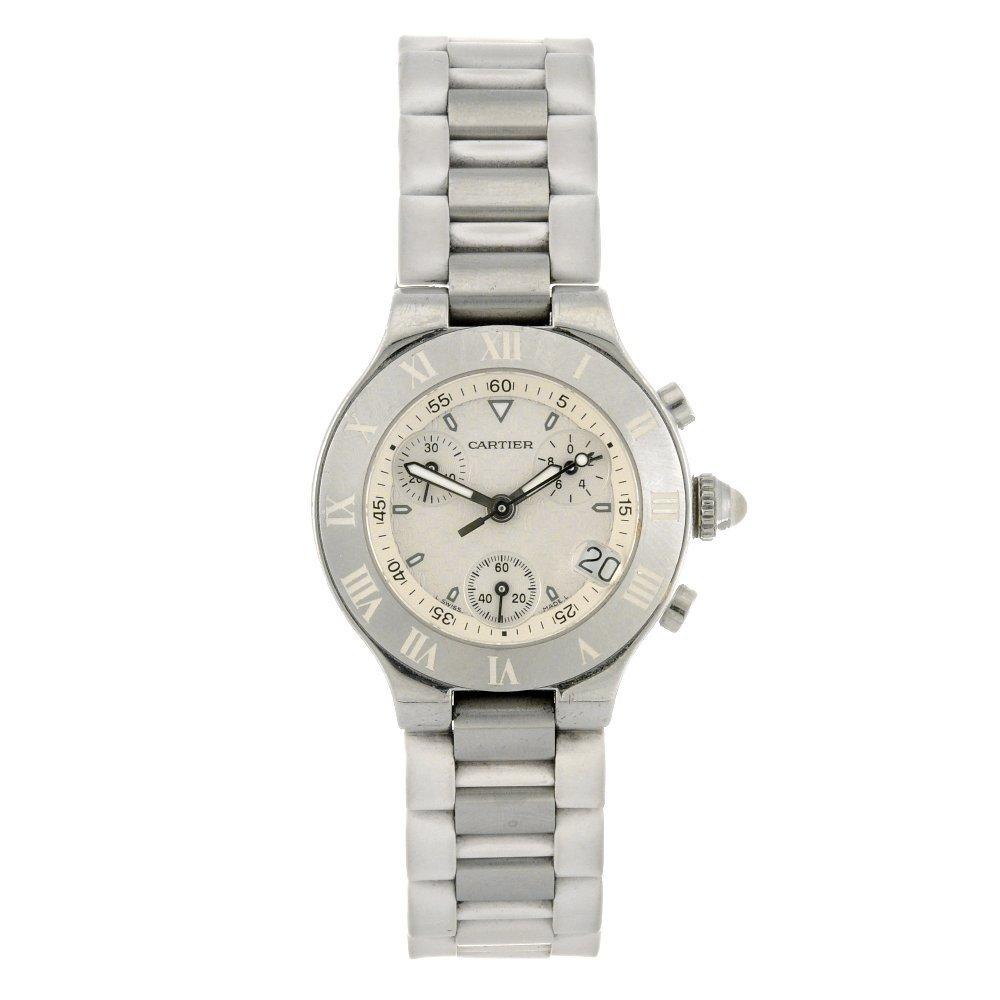 24: (116185959)  A stainless steel quartz chronograph l