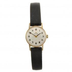 A 9ct Gold Manual Wind Lady's Omega Wrist Watch.