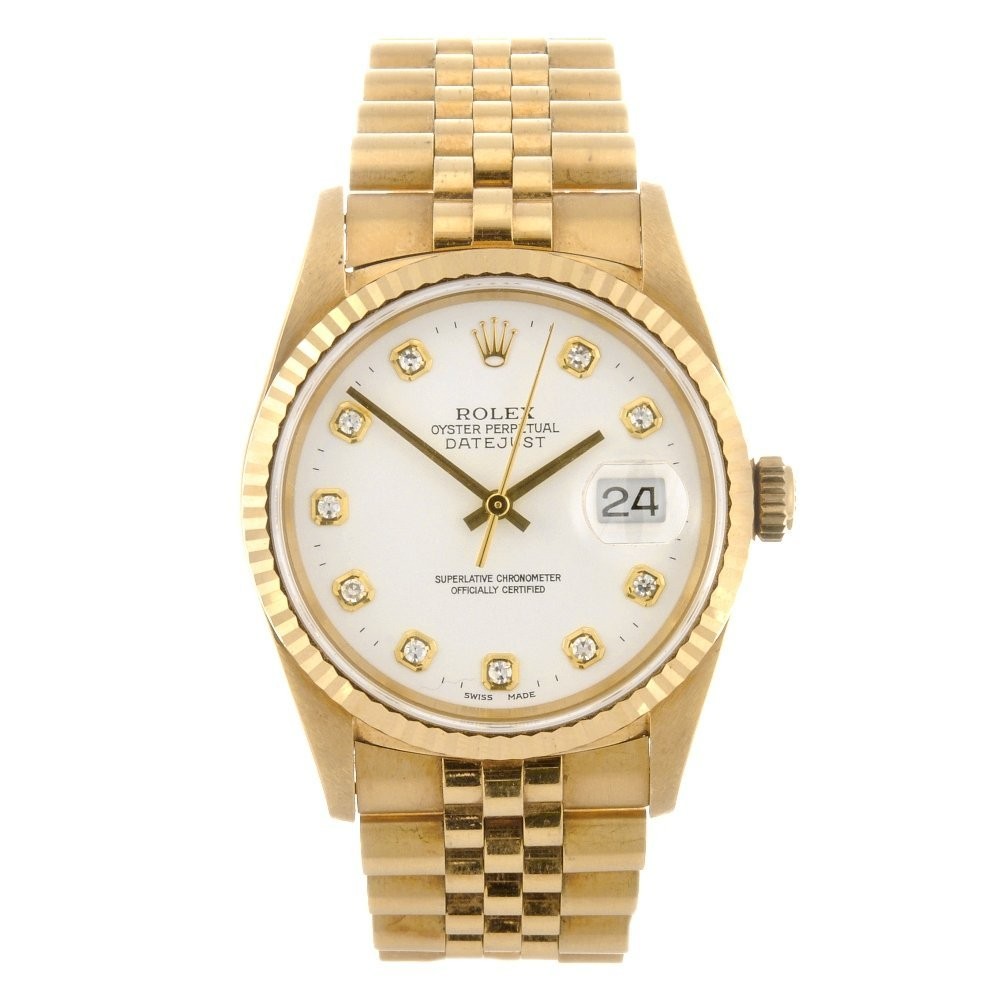133: (116184936) An 18k gold automatic gentleman's Role