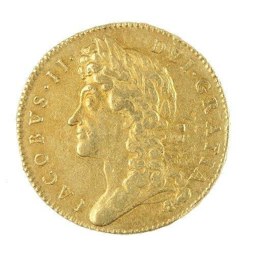 2: James II, gold Five-Guineas 1688.