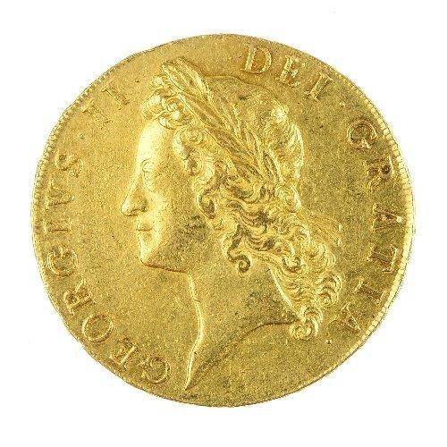 7: George II, gold Five-Guineas 1741.